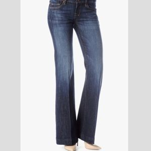 7 For All Mankind NY Dark Flare Maternity Jeans 32
