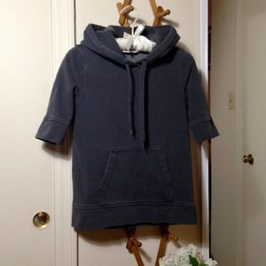 "J. CREW ""Antique Fleece"" Gray Hoodie"