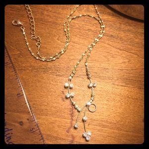 Jewelry - Costume Jewelry--Faux Diamond Necklace