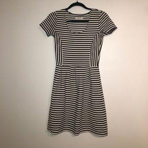 Brand new madewell striped cotton dress