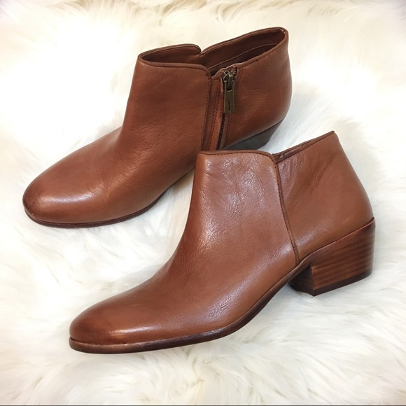 1b7e50c38642 🍁🍂Sam Edelman petty ankle boots brown leather. M 59c472ca981829203700e9e8