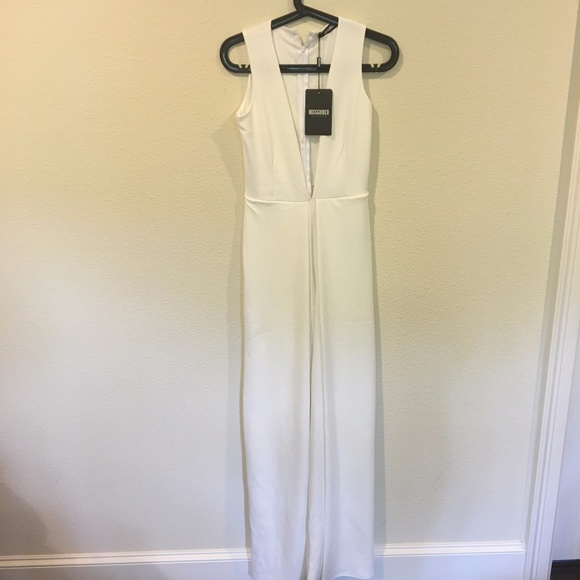 Missguided Pants - NWT Missguided crepe detail white jumpsuit