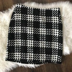 MERONA black & white wool lined skirt! Size 12