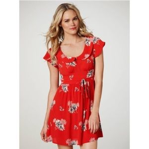 Red Floral Dress | American Eagle Outfitters