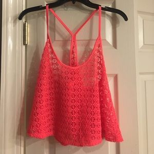 Hot melon PINK Swim cover top