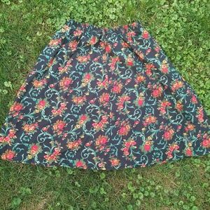 Vintage Black/Red/Green Full Skirt