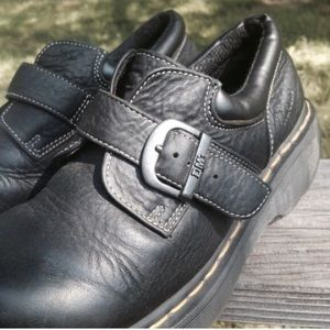 Dr.Martens Black Leather Buckle Boots Size 8