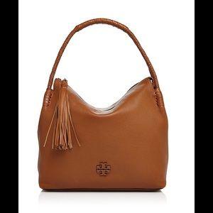TORY BURCH Brown Taylor Leather Hobo Handbag