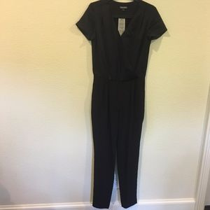 NWT Tommy Hilfiger short sleeve black jumpsuit