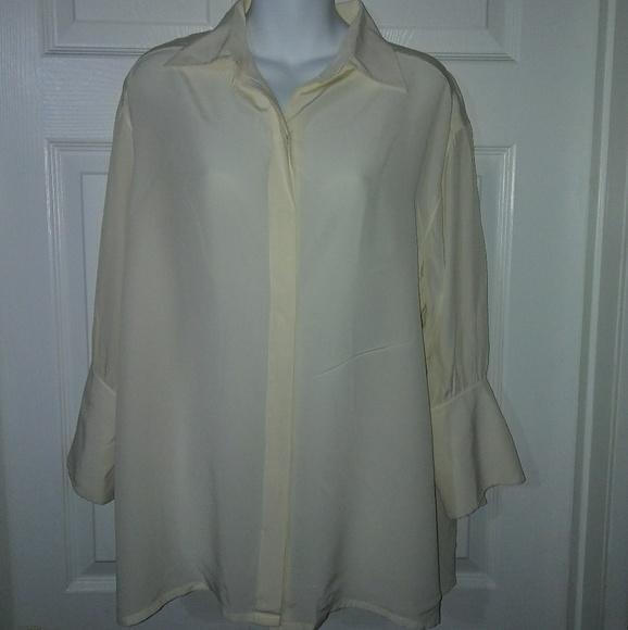 90337416462d20 Christian Dior Tops - Vintage Christian Dior Boutique Silk Beige Blouse
