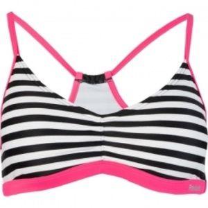 Reebok Swim Jill Stripe Sport Racerback Bikini Top