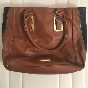 Brown leather Steve Madden tote