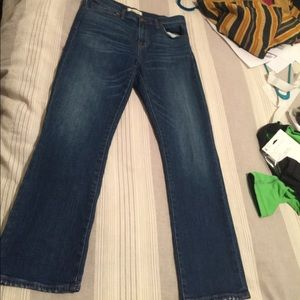 Madewell Cruiser straight crops size 28