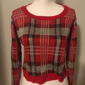 Rue 21 Plaid Sweater Crop Top Size: M