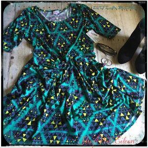 🆕 Lularoe TURQUOISE AZTEC NICOLE DRESS
