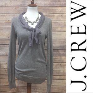 J. Crew wool cashmere blend gray sweater