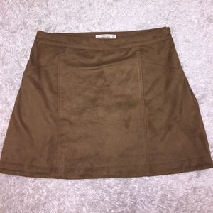 A&F Tan Suede High Waisted Skirt