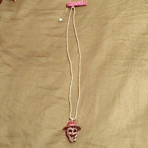 NWT Betsy Johnston sailor skeleton necklace