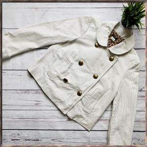 J. CREW short cream jacket, sz 4
