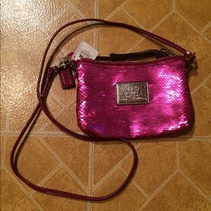 Authentic Coach cross body purse