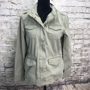 Gap Brand Heavy 100% Cotton Jacket Khaki Green Med
