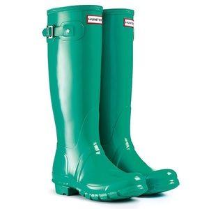 RARE Hunter Original Tall Boots-Jade/Turquoise!