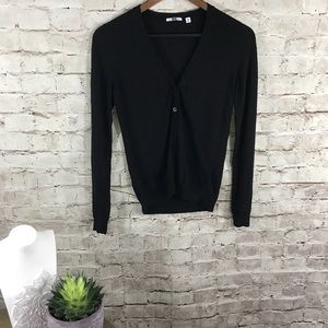 Uniqlo black cardigan
