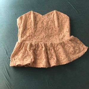 Urban outfitters embroidered peplum top
