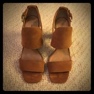Cognac dress sandals
