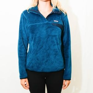 Patagonia Blue Pullover Fleece, Size M
