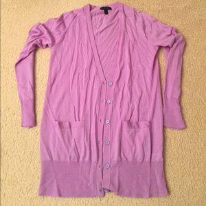 J. Crew Lavender 100% Merino wool Cardigan Sweater