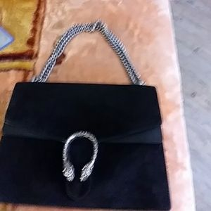 Gucci Bags - Gucci Dionysus Black Suede Shoulder Bag