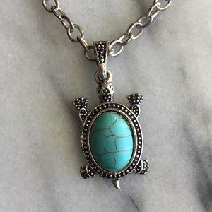 Turquoise Turtle Cutie Necklace