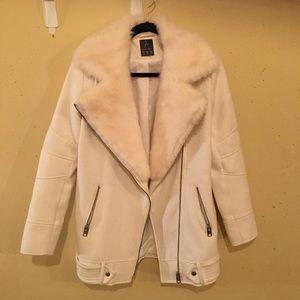 Faux fur Cream Coat