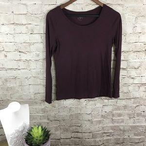 LOFT  purple long sleeve top