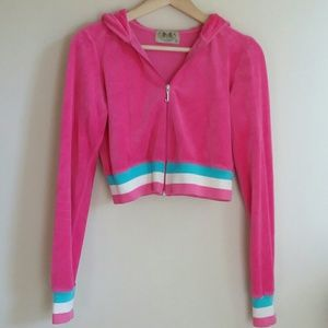 New Juicy Couture cropped zip up hoodie