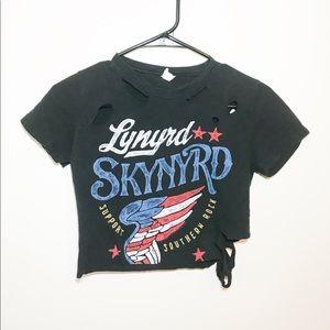 Lynyrd Skynyrd Destroyed Crop Top