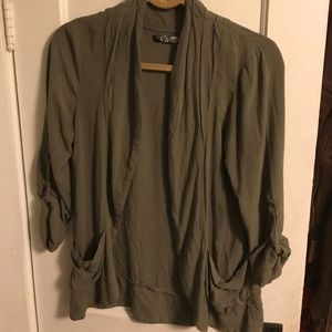 Guess olive cardigan