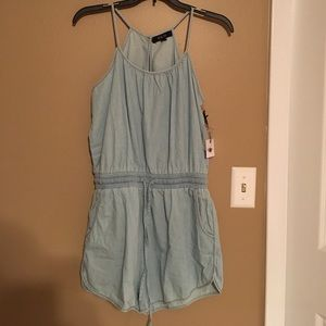 Denim romper!
