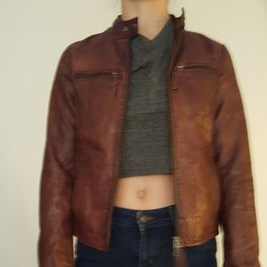 Blaumax, leather coat.