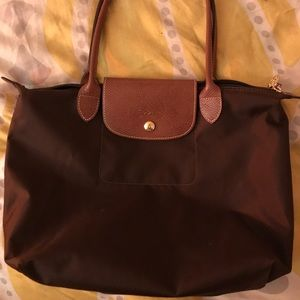 Small Le Pliage Longchamp Handbag (brown)