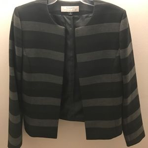 Tahari striped blazer