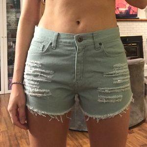 NWOT // Green Cutoff Jean Shorts