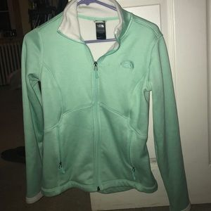 Turquoise NORTHFACE fleece jacket