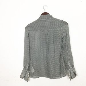 Brooks Brothers Tops - Brooks Brothers Houndstooth Silk Pussybow Blouse