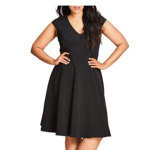 City Chic Fit & Flare Dress ( medium plus)