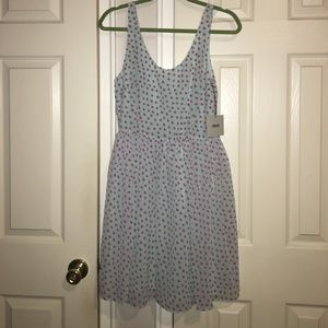 Skater dress with butterfly detail and cross back
