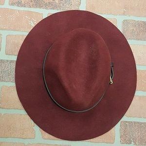 Fedora style floppy brim wool hat