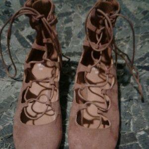 Tie up ballerina Flats