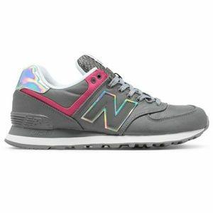 New Balance Grey Pink Classics Sneakers 5B - New